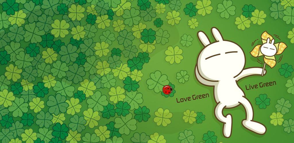 可爱兔子动态壁纸(兔斯基)图片