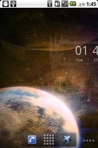 宇宙地球桌面时钟动态壁纸