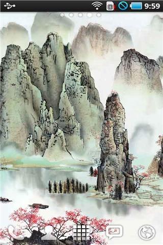 中国传统水墨山水画动态壁纸图片