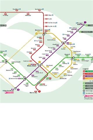 新加坡地铁地图,singapore